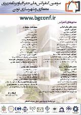 سومین کنفرانس ملی جغرافیا و برنامه ریزی، معماری و شهرسازی نوین